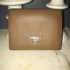 Authentic Tan Saffiano Wallet